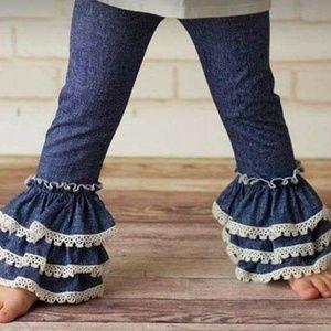 Denim and Lace Leggings